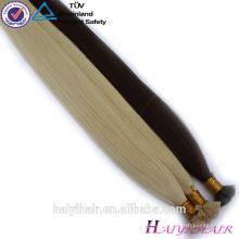Удваивают Вычерченное Гуанчжоу Квартира 100% Кератин Реми Наращивание Волос