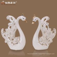 2016 new arrival animal theme wedding ceramic gift in swan shape