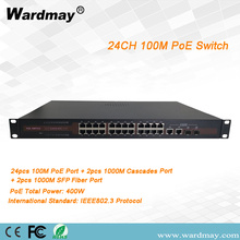 24chs Switch POE port serat ganda kelas industri