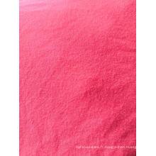 Tissu solide 92% polyester 8% élasthanne peau de pêche