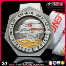 Design Your Own Miraculous Souvenir Marathon Running Cheap Award Sport Medals with Ribbon