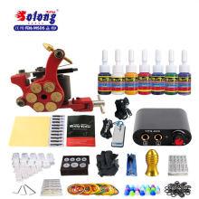 Solong TK105-36 Iniciante Tatuagem Kit 1 Pro Gun 7 Cor de Alimentação de Tinta de Agulha de Aderência Ponta Máquina de Tatuagem Kit para Tattooist