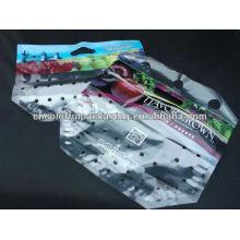 Saco plástico ziplock da impressão feita sob encomenda para o fruto de empacotamento / saco do fruto com furo & punho do ar