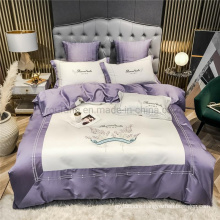 Hot Sale Luxurious Multi Color Sheet Set Cotton Fabric for Single Bed