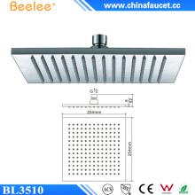 China Sanitärkeramik 10 Zoll Regen Duschkopf in Wand
