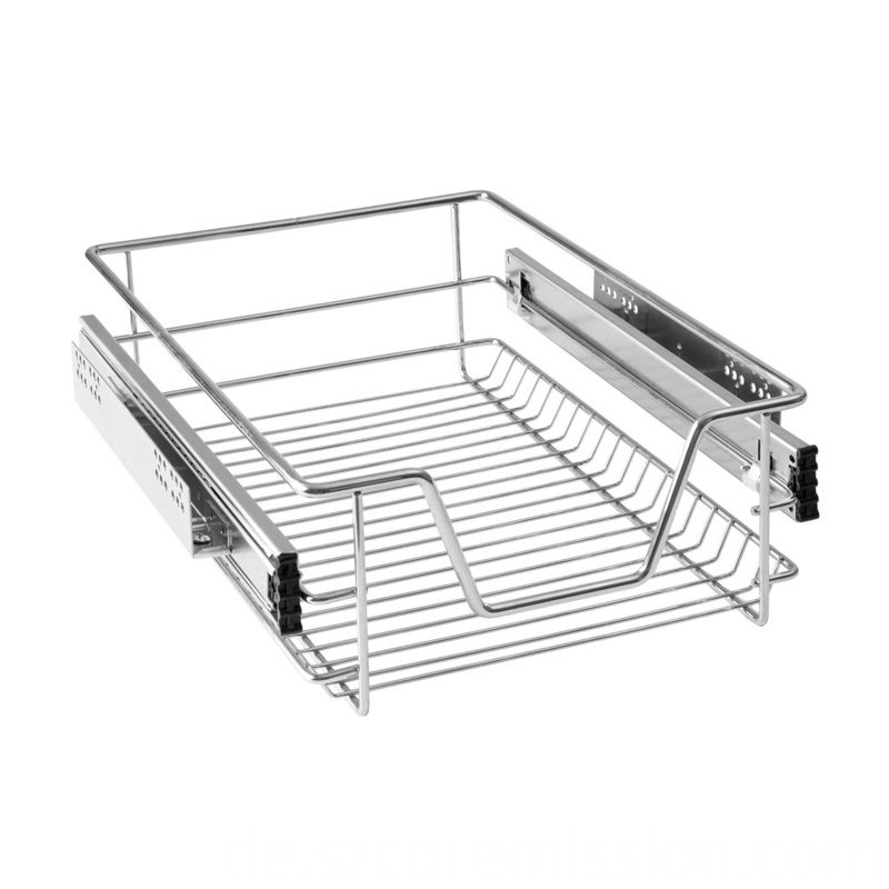 Telescopic Electroplating Kitchen Pull Out Drawer Basket