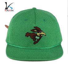 chapeaux noirs de snapback de broderie simple faite sur commande chapeaux en gros