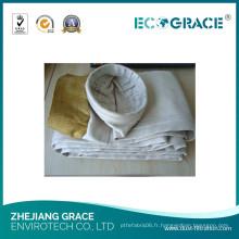 Sac industriel de filtre de fibre de verre de collecteur de poussière d'application de Smelting