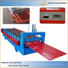 Panel de pared de hierro de acero de color que hace la máquina / hoja de techo de acero corrugado Máquina de producción de conformado en frío