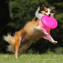 Brinquedo de salto do cão de salto do material do silicone do animal de estimação do treinamento ao ar livre