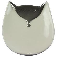 Fox-geformtes keramisches Fach, keramisches Fertigkeit für Hauptdekoration