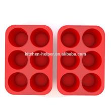 Fabricante profesional de alta calidad de fábrica de alimentos de grado Grano antiadherente de silicona muffin Molino de silicona muffin Molde
