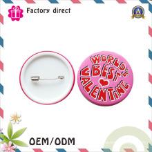 Botões em branco baratos do botão do folha-de-flandres dos botões feitos sob encomenda do emblema do metal da venda por atacado material