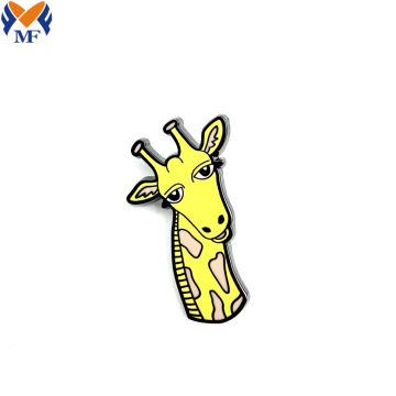 Custom Cartoon Animal Giraffe Enamel Lapel Pin Badge