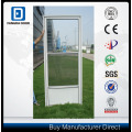 Einfach zu installieren halbe Ansicht austauschbare Glas Sturm Tür