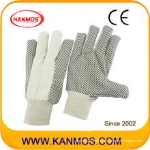 Дрель хлопок пунктирные швейные промышленные руки безопасности работы перчатки (410021)