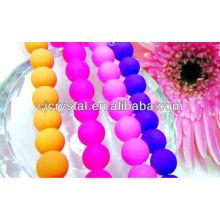 Perles de verre imitation