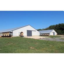 Maison légère de volaille de structure métallique préfabriquée (SPT001)
