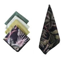 Woven Fast Dry Tea Towel, Microfiber/ Cotton Wiping Towel, Microfiber Glasses Window Kitchen Cleaning Towel, OEM Custom Logo Beach Sports Yoga Towel in Stock