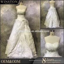 высокое качество линии свадебные платья съемный юбка