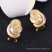 hot selling 2018 amazon custom logo gold wedding earrings