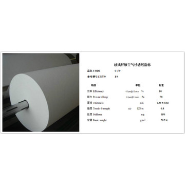 Glass Microfiber Air Filter Media F9