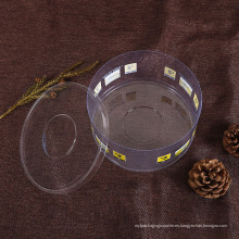 Caja clara del cilindro del plástico del OEM (tubos del ANIMAL DOMÉSTICO)