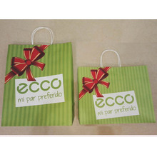 Λευκή Kraft Paper Shopping Bag-ECCO