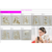black and white 2016 new fashion temporary tattoo sticker for hair and body