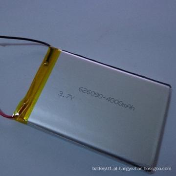 Bateria recarregável Li-ion Li-Polymer 606090 Bateria 3.7V 4000mAh