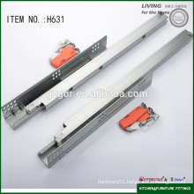 hidden partial extension damping slide with handle