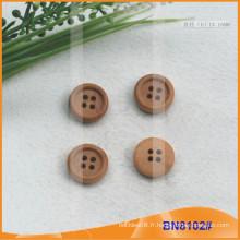 Boutons en bois naturel pour vêtement BN8102