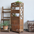 vintage industrial book shelf with cabinet