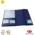 file folder with business card holder
