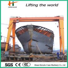 High Perfermance Heavy Duty Ship Building Double Girder Gantry Crane