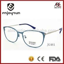 Gafas del marco completo del metal titanium verdadero de la señora óptico con insignia del OEM