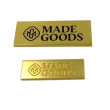 Kleidungsstück-Hardware kundengebundenes geklebtes Metallfirmenzeichen