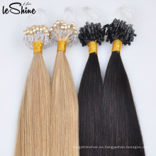 Súper Doble Drawn Micro Laop Ring Russian Loop Hair Extensions