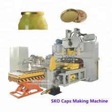 Gire la máquina para fabricar tapas / Frasco de vidrio Tapón de botella Tapón de taza de comida enlatada