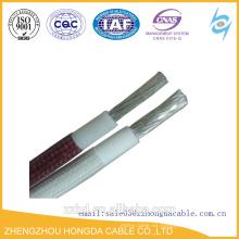 Cable / alambre resistentes al calor de la goma de silicona de la trenza de la fibra de vidrio de la UL 3122