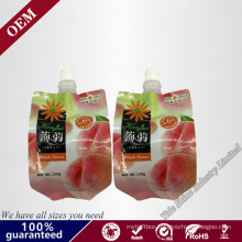 Juice Suction Nozzle Bag/Stand up Pouch with Spout for Liquid Packaging