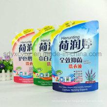 2016 proveedor de China y tamaño personalizado Stand Up Pouch con caño para detergente