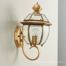 wholesale factory price vintage all brass hotel bedroom living room copper LED wall light modern