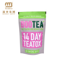 Heat Sealable Custom Printed Aluminum Foil Lined Zipper Stand Up Pouch For Tea