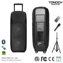 Hot Sales Dual 15 Inches Plastic PA Speaker (ES215UB)