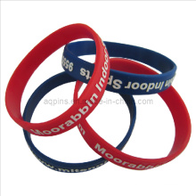 Colors Silicone Bracelet with Printed Logo