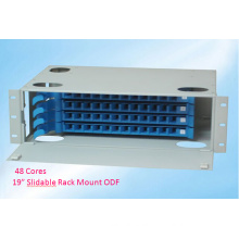 19 Inch 48 Cores Slidable Rack Mount ODF