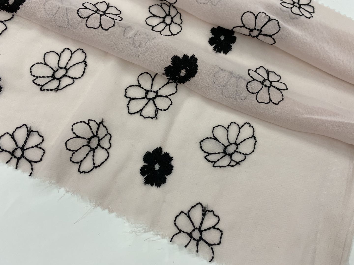 Chiffon Embroidery Fabric