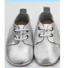 Últimos zapatos ocasionales suaves del oxford del prewalker del nuevo cuero genuino del bebé