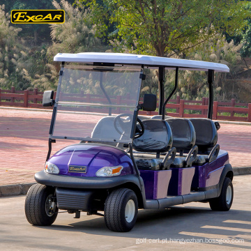 CE aprovado 6 lugares carrinho de golfe elétrico carro clube carrinho de buggy de golfe bateria elétrica carrinho